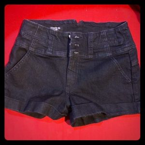 Bebe Dark Denim Shorts